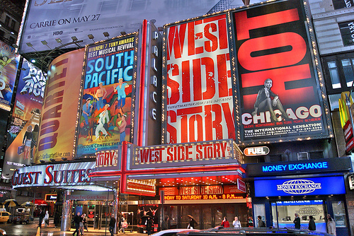 Iconic Theater District of New York City.