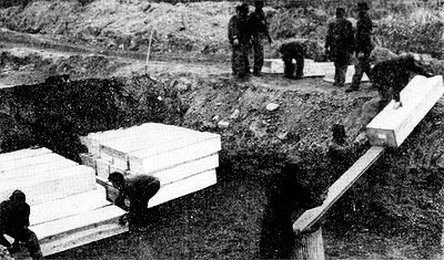 Burying the dead at Potter's Field.