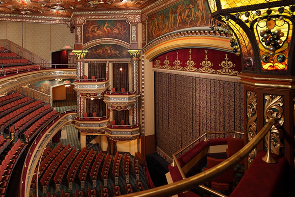 The theater's unique curtain.