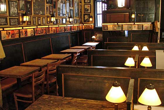 Ghosts still get boozy at Chumley's tables.