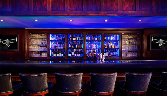 The hotel's Blue Bar.