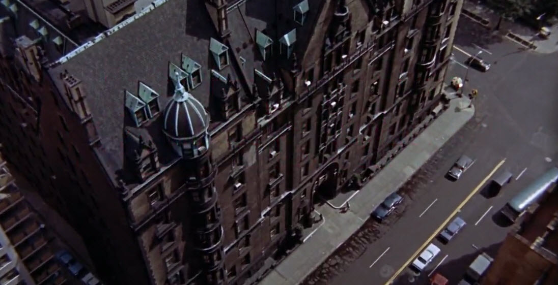 Shot of The Dakota from Rosemary's Baby.